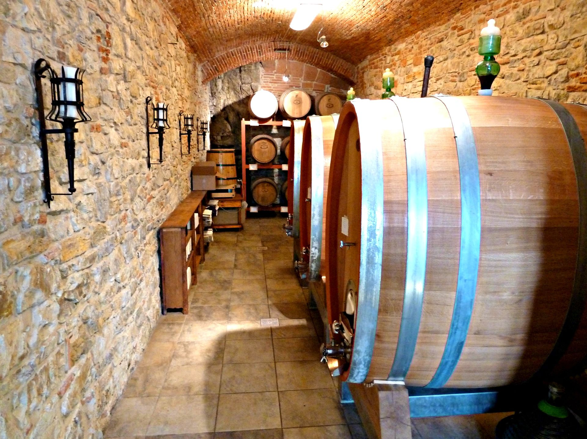 wine cellar in the castle